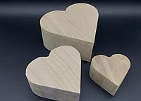 Шкатулка Сердце заготовка из дерева для декупажа и творчества 165х150х75 мм