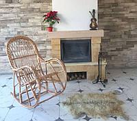 Кресло-качалка плетенное из лозы с косой КК-4/3, фото 1