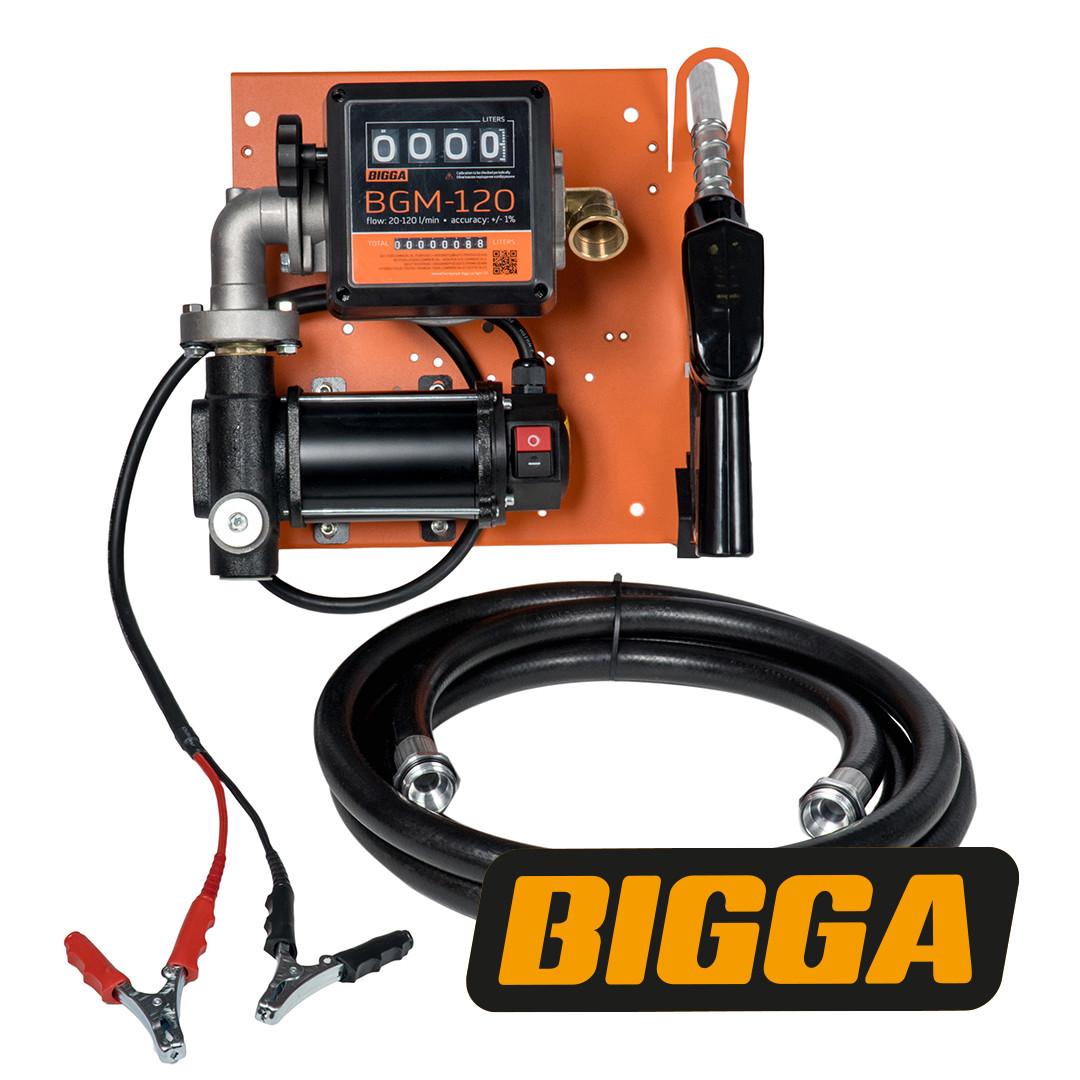 Bigga Beta DC60-12 - Мобильная заправка для дизельного топлива с расходомером, 12 В, 63 л/мин, Автоматический