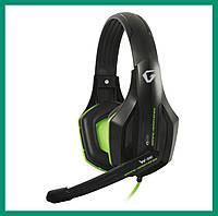 Наушники проводные GEMIX W-330 с микрофоном Black-Green