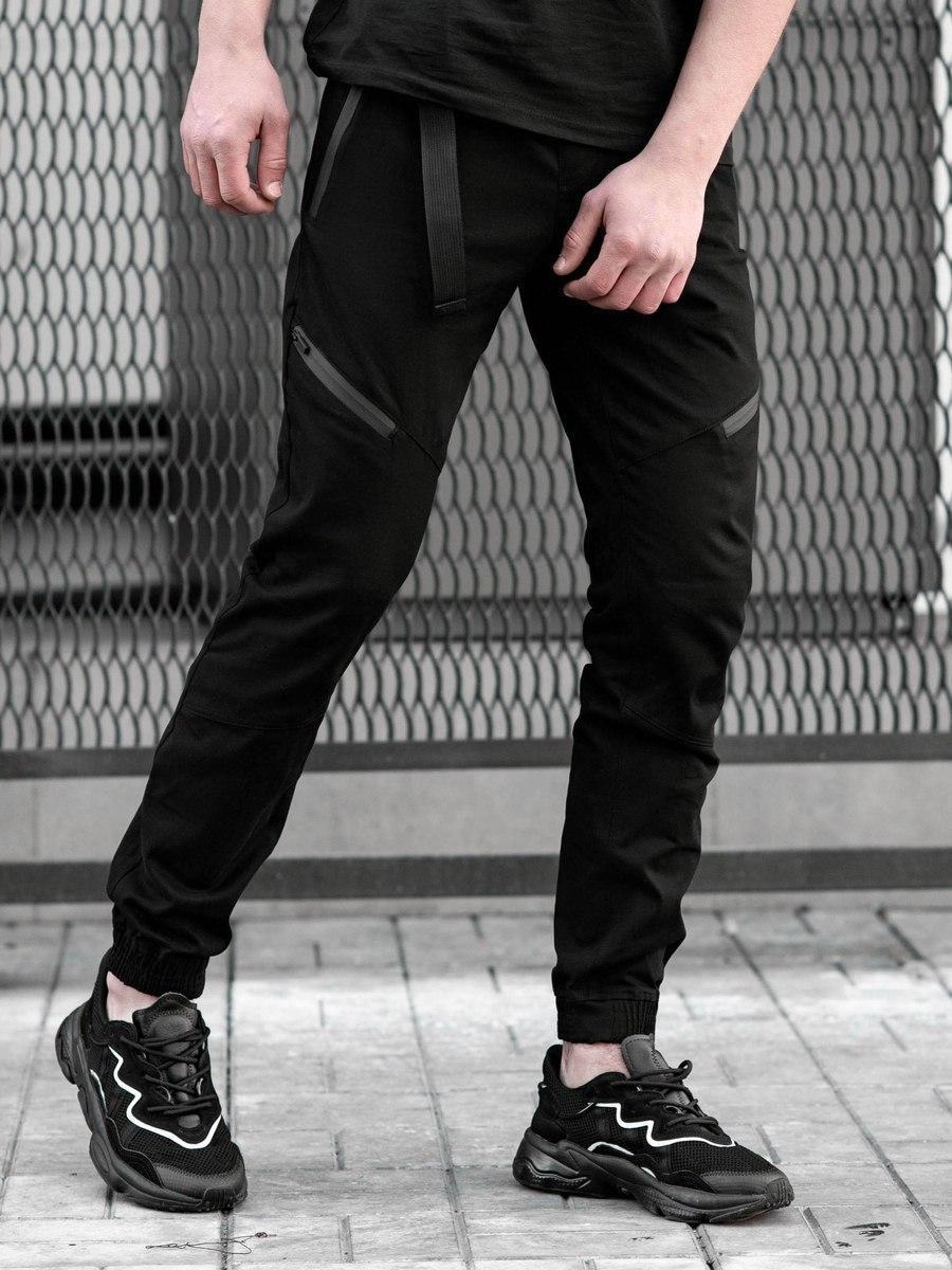 Брюки джоггеры BeZeT Techwear черные