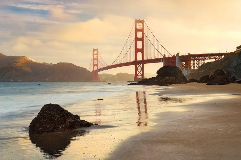 Фотообои Komar XXL4-054 Golden Gate (Золотые ворота) 3,68х2,48