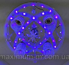 Люстра потолочная Космос с цветной Led подсветкой и автоматическим отключением с пультом (17х44х44 см.) Хром YR-5251/41