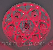 Люстра потолочная Космос с цветной Led подсветкой и автоматическим отключением с пультом (17х54х54 см.) Хром YR-5251/61