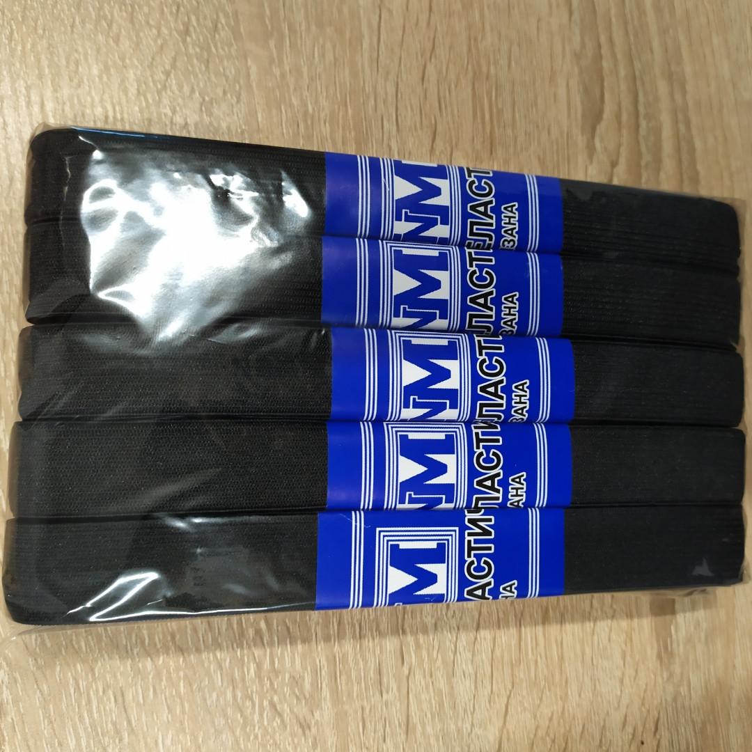 Резинка ПЭ черная 20мм 5м