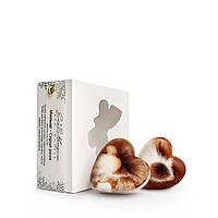 Сердца двух порционное мраморное мыло с какао бобами 60г, фото 1