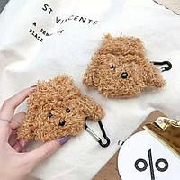 Противоударный чехол - Airpods Apple. Собака мохнатая (коричневая), фото 1