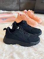 Мягкие удобные кроссовки черные