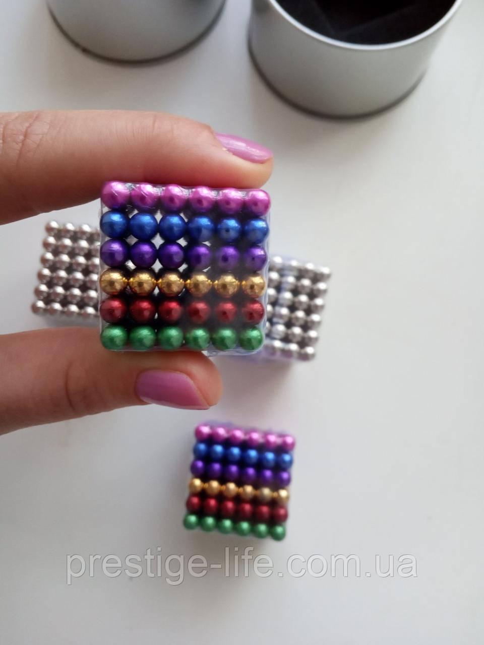 Кольоровий Neo Cube Нео Куб Веселка Магніт 5мм
