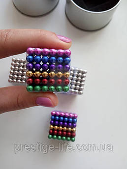 Цветной Neo Cube Нео Куб Радуга Магнит 5мм