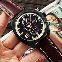 Часы C.u.r.r.e.n. Механизм: Кварцевый хронограф. Материал корпуса и ремешка: Часовая сталь/ PU кожа., фото 1