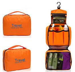 Органайзер дорожній сумочка для косметики Mindo Travel your life Помаранчевий (biz_0005)