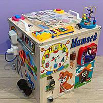 "Развивающий куб для ребенка ""Бизикуб"" бизи куб бизиборд  40*40*40 см, фото 3"