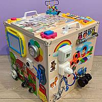"Развивающий куб для ребенка ""Бизикуб"" бизи куб бизиборд  40*40*40 см, фото 2"