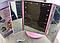Зеркало с подсветкой 22 LED Superstars MAGNIFYING MIRROR розовое, фото 4