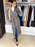 Женское качественное фабричное демисезонное шерстяное пальто с поясом (в расцветках), фото 7