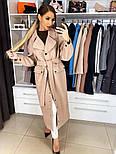 Женское качественное фабричное демисезонное шерстяное пальто с поясом (в расцветках), фото 4