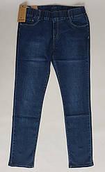Синие женские джинсы с резинкой в поясе