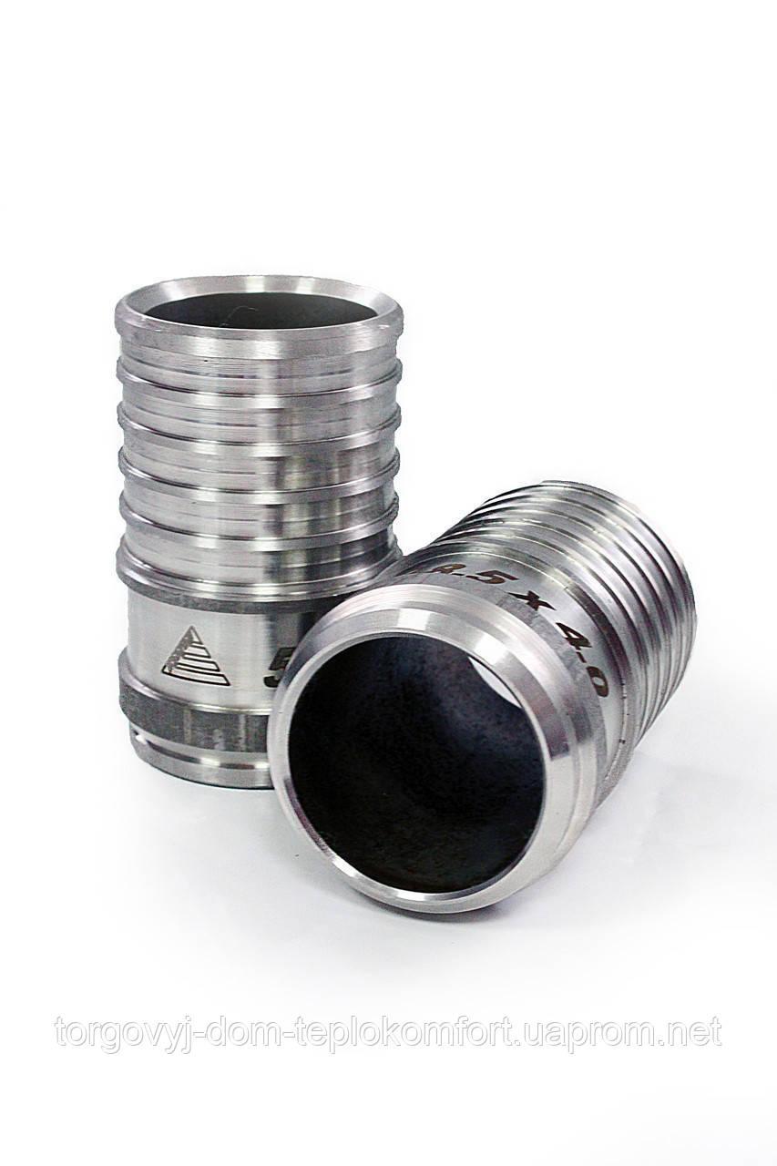 Пресс-фитинг под сварку нержавеющая сталь в комплекте с гильзой диаметр 75