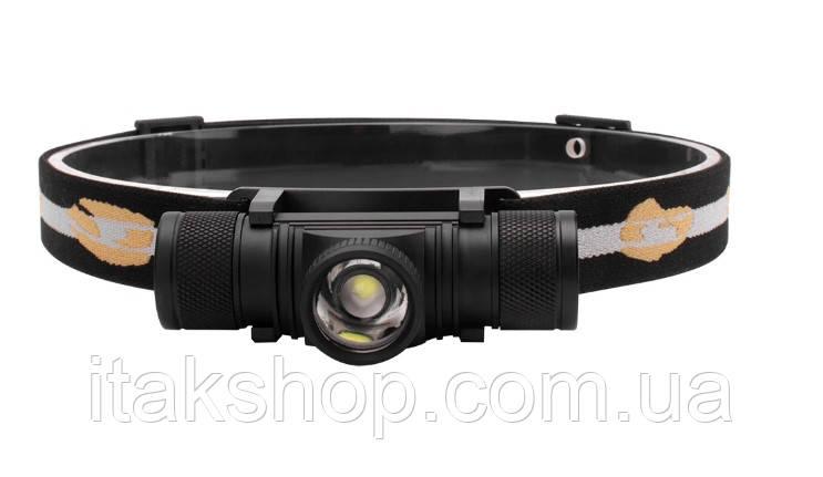 Налобный фонарь Boruit D20 XM-L2 Zoom фонарик Оригинал