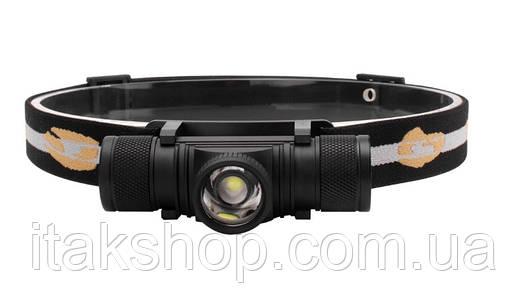 Налобный фонарь Boruit D20 XM-L2 Zoom фонарик Оригинал, фото 2