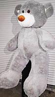 Огромный серый плюшевый медведь мягкая игрушка большой мишка 1,6 метра