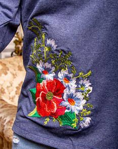 Стильная кофта с цветочной вышивкой