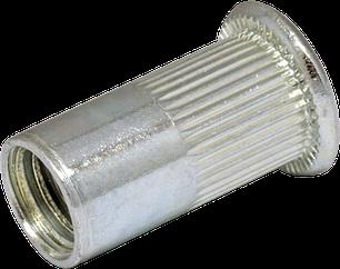 RFr-Гайка клепальная рифленая с буртиком
