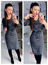 Женское платье до колен с поясом свободного кроя 42-46 р, фото 2