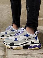 Женские кроссовки Balenciaga Triple S Violet