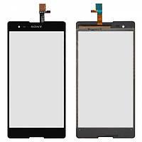Touchscreen (сенсорный экран) для Sony Xperia T2 Ultra DS D5322, оригинал (черный)