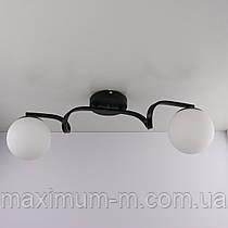 Люстра потолочная на 2 лампочки (18х14х62 см.) Черный YR-2564/2