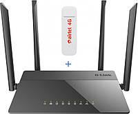 Комплект WiFi роутер D-link AC1200 + 4G LTE модем