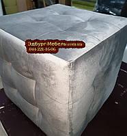 Пуф стеганний Квадро оббивка велюр, оксамит, фото 1