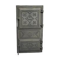 Печные дверцы чугунные спаренные (5 вариантов)