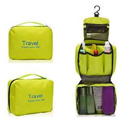 Органайзер дорожній сумочка для косметики Mindo Travel your life Салатовий (biz_0006)