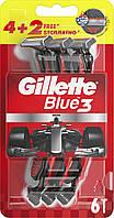 Одноразовые бритвенные станки Gillette Blue 3 (4+2)