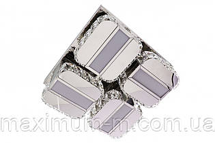 Люстра потолочная хрустальная Led с пультом (14х33х33 см.) Хром YR-C2060/350