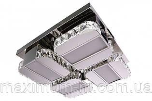 Люстра потолочная хрустальная Led с пультом (15х48х48 см.) Хром YR-C2060/500