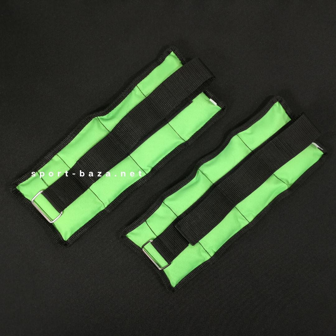 """Утяжелители для рук и ног """"HF ЭЛИТ"""" салатовый 0.5 кг (2 шт по 0.25 кг) водоотталкивающие"""