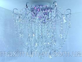 Люстра потолочная хрустальная с пультом (42х45х45 см.) Хром или золото YR-90080/4