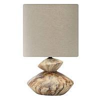 Настольная лампа с абажуром Z-LIGHT E14 4500 К коричневая (ZL 5040)