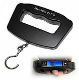 Электронные цифровые весы безмен кантер Electronic Digital Luggage Scale с ремешком до 50 кг, фото 2