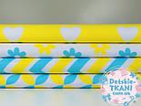 Отрез ткани с сеткой из лепестков жёлто-бирюзового цвета (№385а), размер 60*160, фото 4