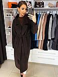 Жіноче якісне фабричне вовняне пальто демісезонне міді зі спущеними плечима (в кольорах), фото 6