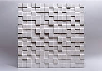 """Гіпсові панелі 3D """"Soil"""" Білий 500*500*25 мм"""