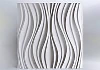 """Гіпсові панелі 3D """"Лотос"""" Білий 500*500*25 мм"""