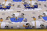 """Отрез ткани """"Пираты на синих кораблях"""" № 1056, размер 65*160, фото 3"""