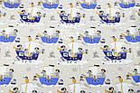 """Отрез ткани """"Пираты на синих кораблях"""" № 1056, размер 65*160, фото 6"""