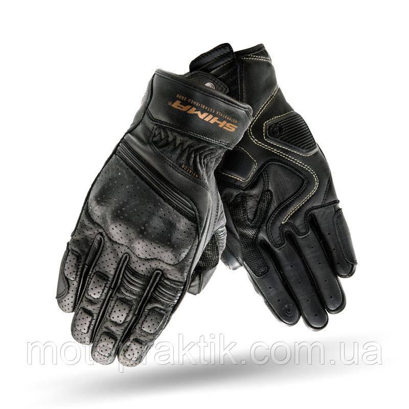Shima Aviator Gloves Black, S Мотоперчатки шкіряні з захистом